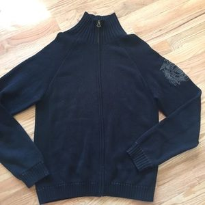 Vintage RL polo jeans company full zip sweater